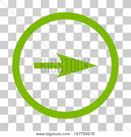 Arrow Axis X rounded icon. Vector illustration style is flat iconic symbol inside a circle, eco green color, transparent background. Designed for web and software interfaces.