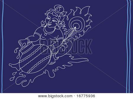 Lord Krishna eating butter (makhan)