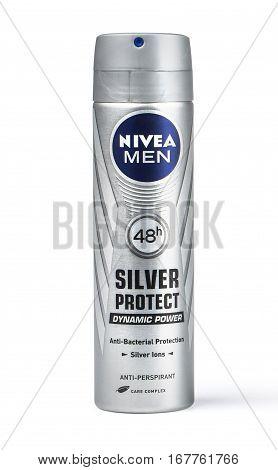 Deodorant Nivea Isolated On White