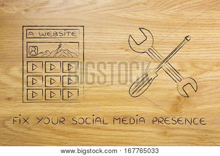 Fixing Your Digital Content, Website With Wrench & Screwdriver