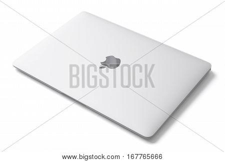 RIGA LATVIA - December 29 2016: Macbook laptop computer.