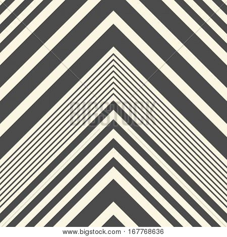 Seamless ZigZag Pattern. Abstract Black and White Background. Vector Regular Stripe Texture. Minimal Zig Zag Monochrome Design.