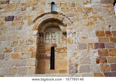 Zamora San Cipriano church in Spain by Via de la Plata way to Santiago exterior image shot from public floor
