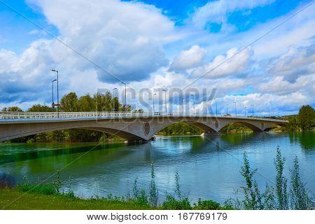 Zamora Poetas bridge over Duero river in Spain
