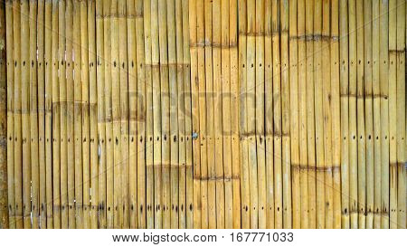 bamboo fence background or bamboo fence texture