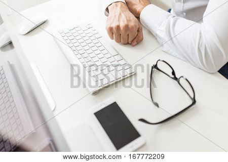 Business concept working in office