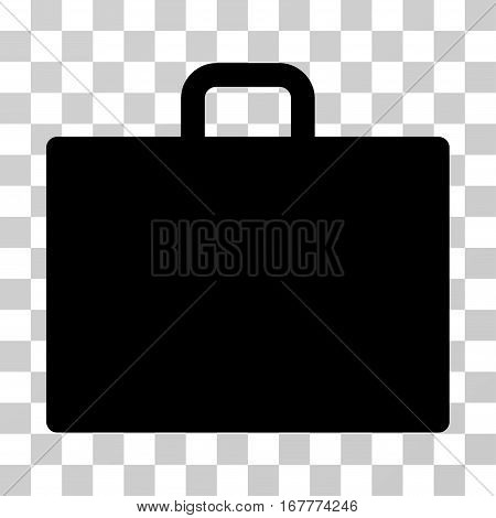 Case icon. Vector illustration style is flat iconic symbol, black color, transparent background. Designed for web and software interfaces.