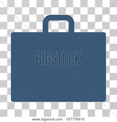 Case icon. Vector illustration style is flat iconic symbol, blue color, transparent background. Designed for web and software interfaces.