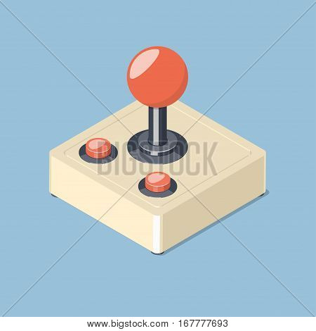 Video game controller symbol. Isometric vector illustration