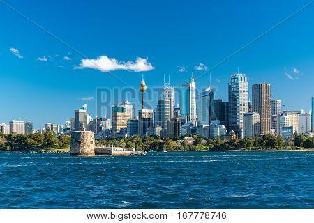 Sydney Cityscape Of Sydney Cbd With Fort Denison