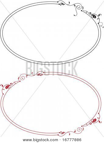 Elliptical Border, Frame designs