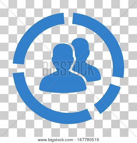 Demography Diagram icon. Vector illustration style is flat iconic symbol, cobalt color, transparent background. Designed for web and software interfaces.