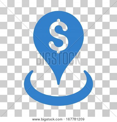 Geo Targeting icon. Vector illustration style is flat iconic symbol, cobalt color, transparent background. Designed for web and software interfaces.