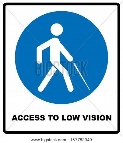 Access to Low Vision symbol. blindness line icon, outline vector logo illustration, linear pictogram isolated on white. Disabled sign for public places and web. Vector illustration