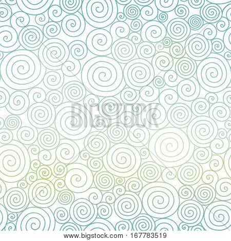 Vector Blue Pastel Gradient Abstract Swirls Texture Seamless Pattern Background. Great for elegant texture fabric, cards, wedding invitations, wallpaper. Textile pattern design.