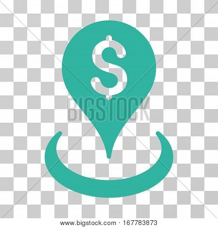 Geo Targeting icon. Vector illustration style is flat iconic symbol, cyan color, transparent background. Designed for web and software interfaces.