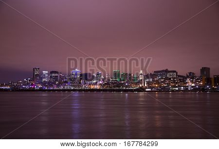 MONTREAL CANADA, 22 JANUARY 2017: The port of mtl is an international container port that  services Toronto and the rest Canada and U.S.  The site is now a cultural gem and a major tourist attraction.