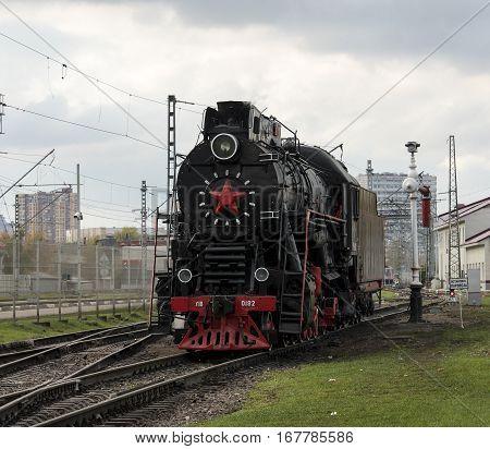 The retro steam locomotive in the Russian Federation