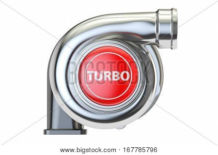 turbo concept 3D rendering isolated on white background