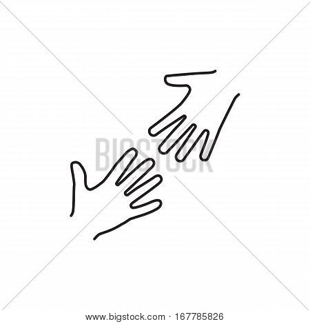Helping Hands Black Icon