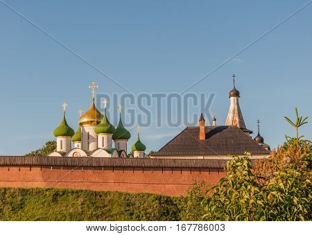 View Of The Saviour Monastery Of St. Euthymius Is A Monastery In Suzdal, Russia.