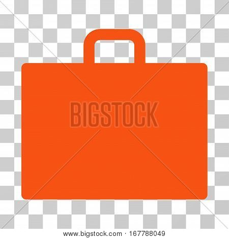Case icon. Vector illustration style is flat iconic symbol, orange color, transparent background. Designed for web and software interfaces.
