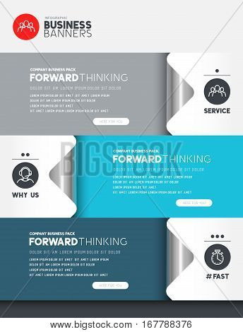 Business infographic elements with room for layout and text. Vector illustration