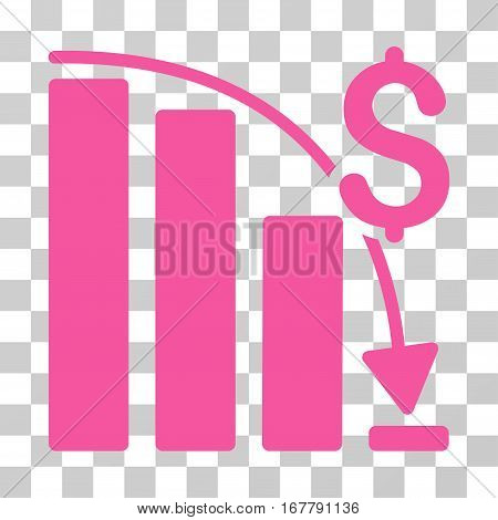 Epic Fail Trend icon. Vector illustration style is flat iconic symbol, pink color, transparent background. Designed for web and software interfaces.