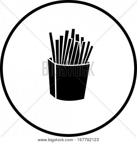 french fries box symbol