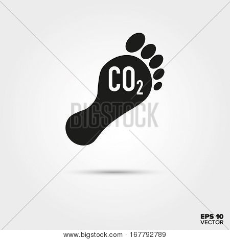 Carbon footprint Icon. Environmental Damage and Global Warming Symbol. EPS 10 Vector.