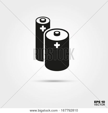 Batteries icon. Accumulator Symbol. EPS 10 Vector.