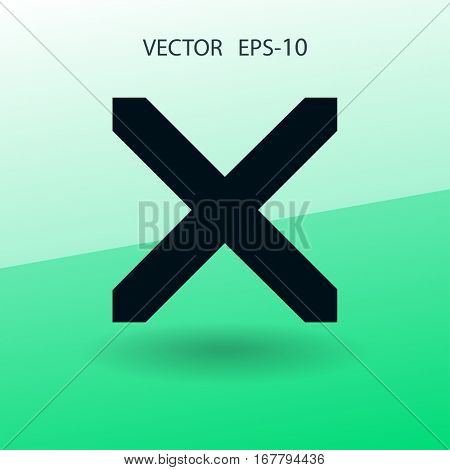 Flat  icon of prohibit. vector illustration