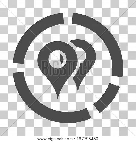 Geo Diagram icon. Vector illustration style is flat iconic symbol, gray color, transparent background. Designed for web and software interfaces.