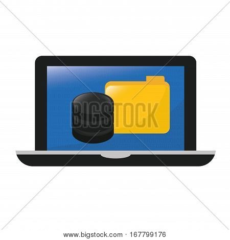 computer web hosting icon design, vector illustration