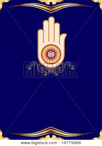 Jain Emblem ornamental background