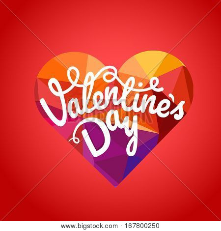 Happy valentines day wishes greeting card. Valentines vector label