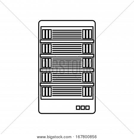 figure web hosting related icons image vector illustration design