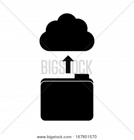 black database storage icon image design, vetor illustration