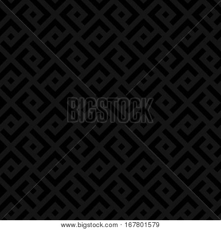 Black Checked Neutral Seamless Pattern for Modern Design in Flat Style. Tileable Geometric Vector Background.