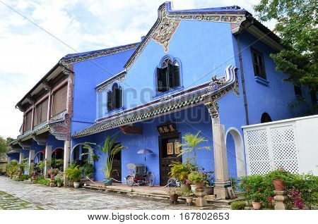 Fatt Tze Mansion Or Blue Mansion In Georgetown, Penang, Malaysia
