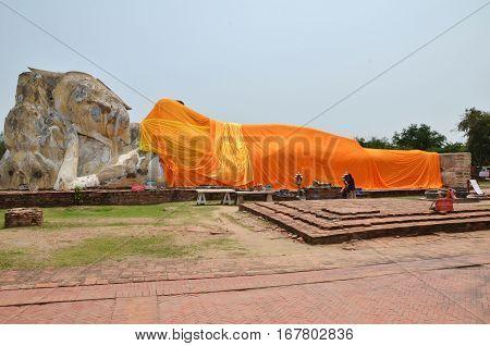 Large White Buddha Sleep