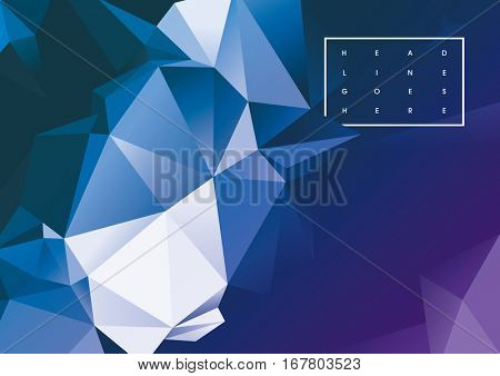 Vector of modern futuristic polygonal background