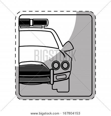 figure car police icon image, vector illustration design
