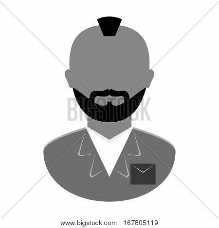 grayscale arrested man icon image, vector illustration
