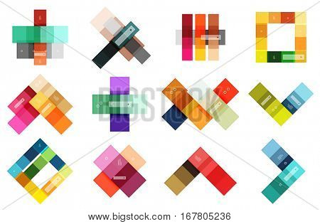 Abstract geometric line infographic templates. Geometric business abstract background for workflow layout, diagram, number options or web design