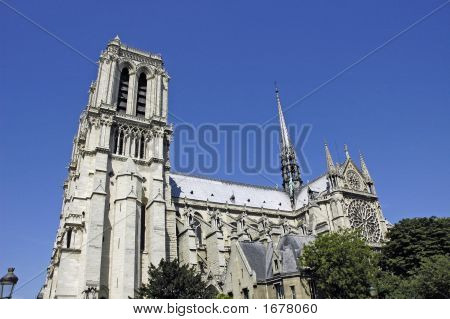 Lateral Side Of Notre Dame, Paris