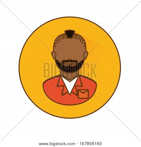 signal arrested man icon image, vector illustration