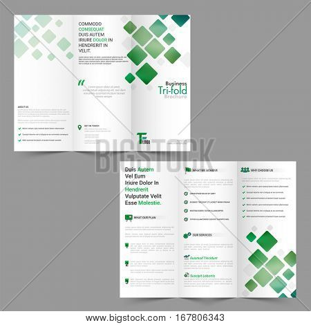 Modern Tri-Fold Corporate Brochure design for Business concept.