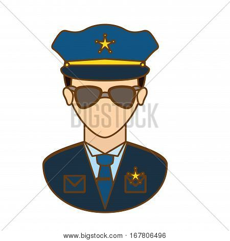 police officer icon image design, vector illustration