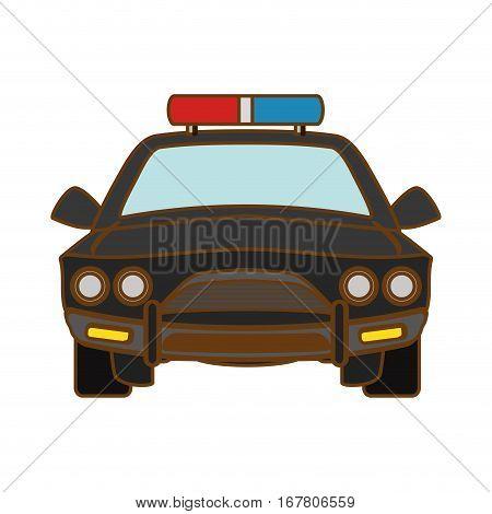 car police icon image, vector illustration design